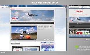Telas do novo site aeroba.com.br